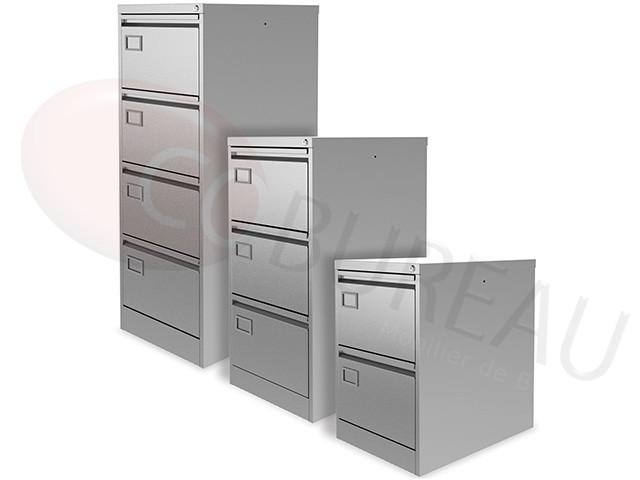 classeur 2 tiroirs metallique pour dossiers suspendus