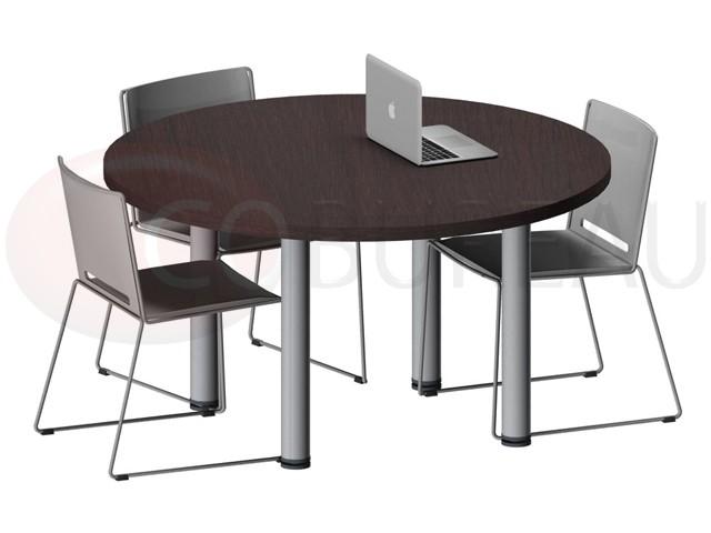 table ronde pro métal 120 cm - pieds tube rond