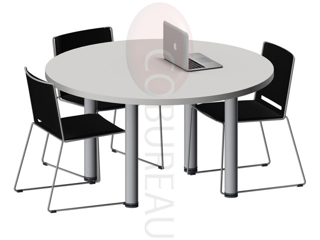 table ronde pro m tal 120 cm pieds tube rond. Black Bedroom Furniture Sets. Home Design Ideas