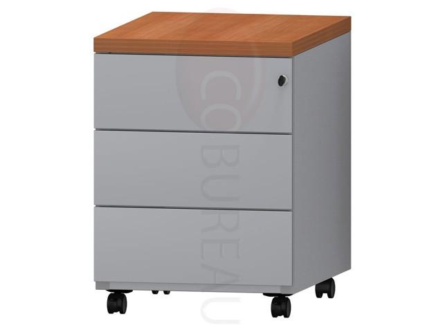 caisson mobile m tallique 3 tiroirs pro m tal gris. Black Bedroom Furniture Sets. Home Design Ideas