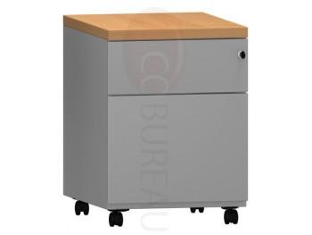 Caisson mobile 2 tiroirs Pro métal gris