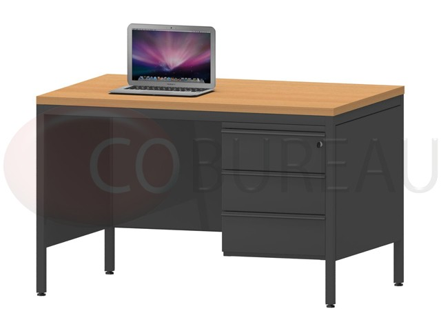 bureau demi ministre 120 avec caisson fixe 3 tiroirs. Black Bedroom Furniture Sets. Home Design Ideas