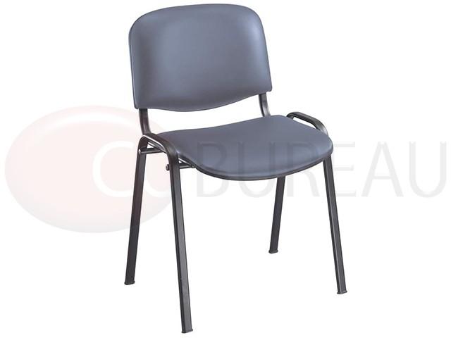 chaise iso simili cuir gris - Chaise Simili Cuir