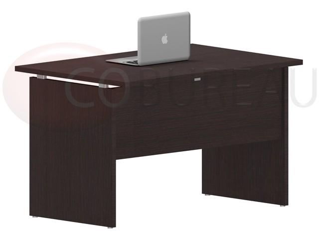 Bureau droit kamos 120 cm pieds panneaux for Bureau 100 cm