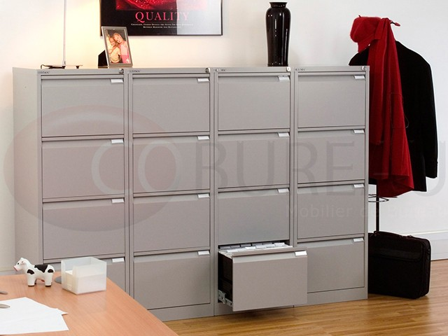 classeur metallique format commercial 4 tiroirs pour dossiers suspendus. Black Bedroom Furniture Sets. Home Design Ideas