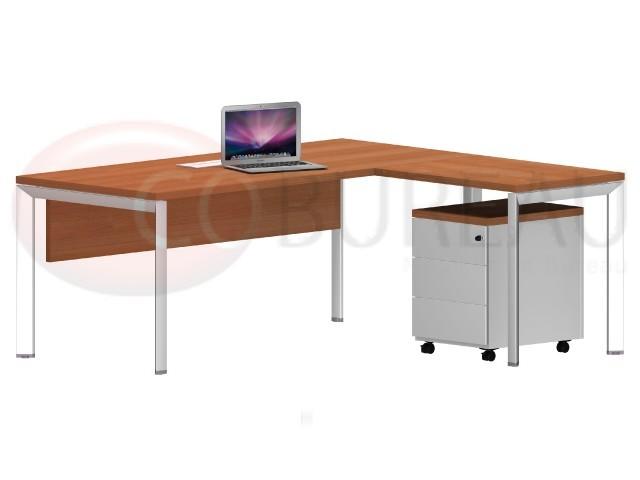 bureau avec retour arko 180 cm pieds m 233 tal arche