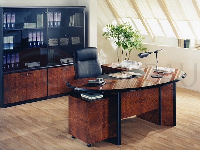 bureau de direction niven plateau arrondi. Black Bedroom Furniture Sets. Home Design Ideas