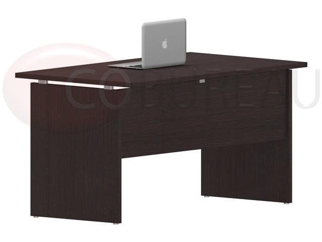 Bureau kamos avec plateau droit paisseur 25 mm en for Mobilier bureau wenge