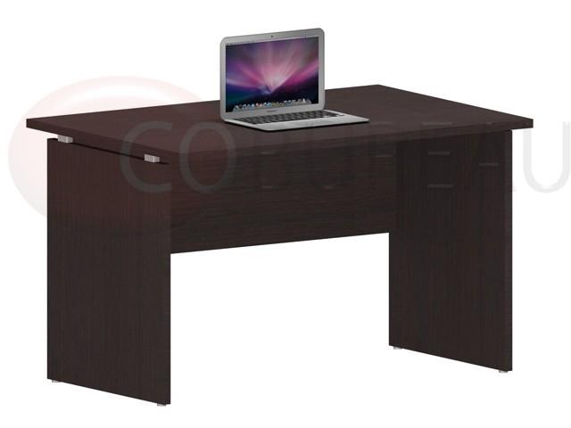 Bureau kamos 100 cm de chez newform paisseur 25 mm for Mobilier bureau wenge