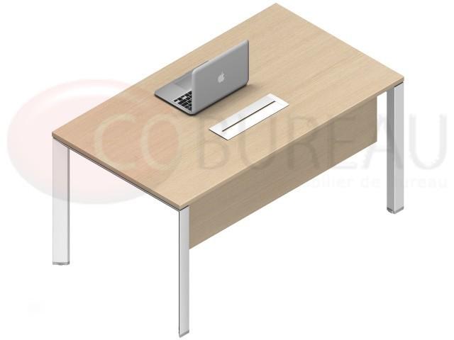 bureau droit arko 120 cm pieds arche m tal. Black Bedroom Furniture Sets. Home Design Ideas