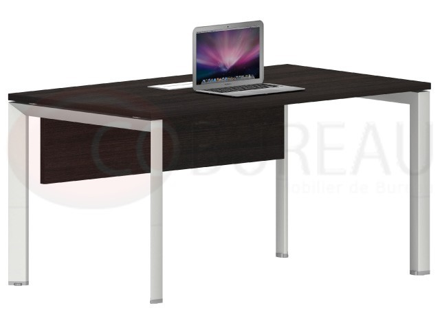 bureau droit arko 140 cm pieds metallique forme d 39 arche. Black Bedroom Furniture Sets. Home Design Ideas