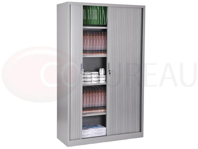 armoire a rideaux l 120 x h 200 cm corps aluminium. Black Bedroom Furniture Sets. Home Design Ideas