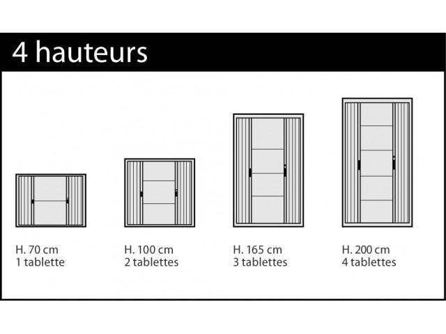 Armoire métallique A rideaux - L. 120 x H. 200 cm - Corps Blanc ...