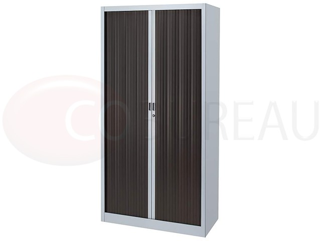armoire m tallique a rideaux l 120 x h 200 cm corps aluminium rideaux weng. Black Bedroom Furniture Sets. Home Design Ideas