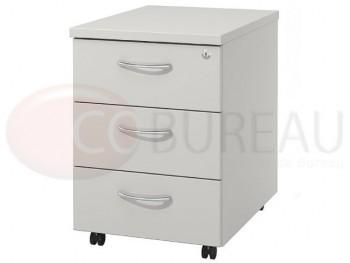 Caisson mobile Arko 3 tiroirs bois Blanc