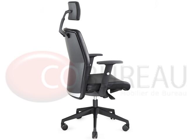 Fauteuil ergonomique swing avec appui t te - Fauteuil de bureau avec appui tete ...