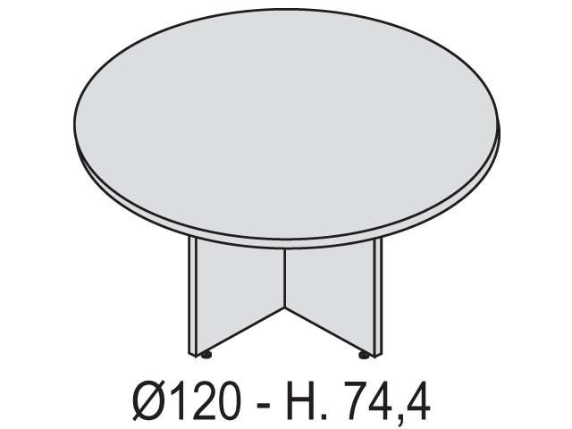 table ronde kamos 120 cm pi tement en toile. Black Bedroom Furniture Sets. Home Design Ideas