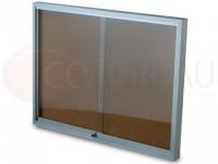 Tableau d'affichage portes vitré coulissantes fond liège