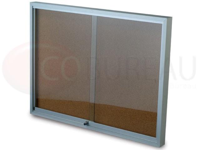 tableau d 39 affichage portes vitr e coulissantes fond li ge. Black Bedroom Furniture Sets. Home Design Ideas