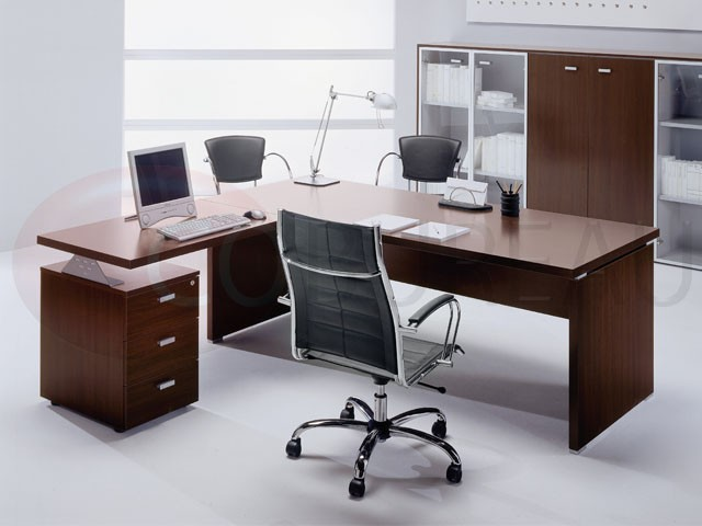 bureau direction tower avec plateau rectangulaire. Black Bedroom Furniture Sets. Home Design Ideas