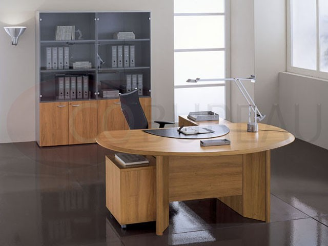 bureau direction avec plateau arrondi play. Black Bedroom Furniture Sets. Home Design Ideas