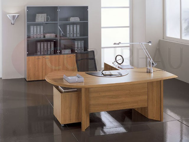 Bureau direction indi avec plateau courbe for Catalogue mobilier bureau