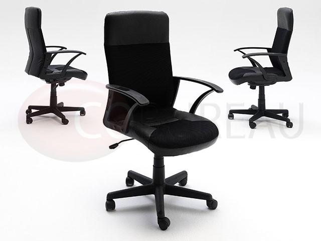 fauteuil de bureau igo mesh cuir