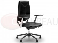 Fauteuil direction Next-v cuir dossier bas