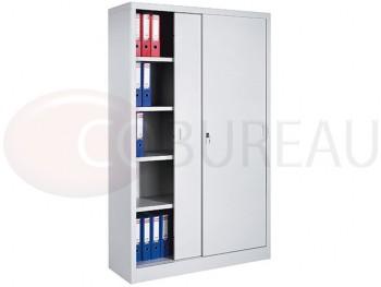 armoire m tallique haute portes coulissantes l 120 x h 200 cm. Black Bedroom Furniture Sets. Home Design Ideas