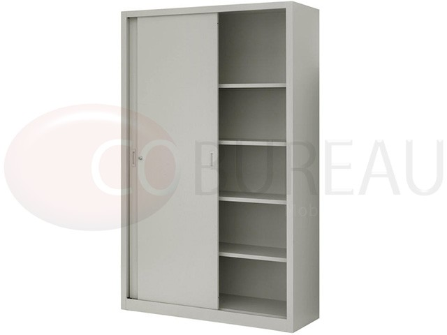 armoire m tallique haut portes coulissantes l 120 x h 200 cm. Black Bedroom Furniture Sets. Home Design Ideas