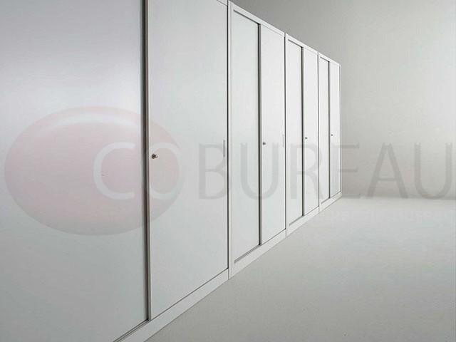 Armoire m tallique haut portes coulissantes l 120 x h for Armoire 180 x 200