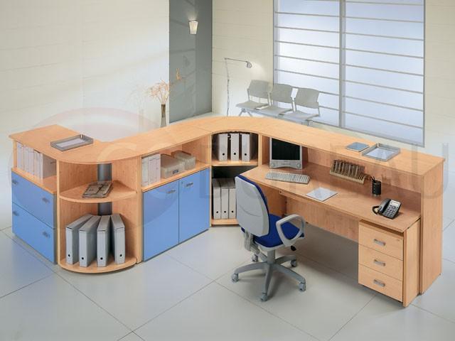 comptoir d 39 accueil kamos l 185 cm x h 109 cm. Black Bedroom Furniture Sets. Home Design Ideas