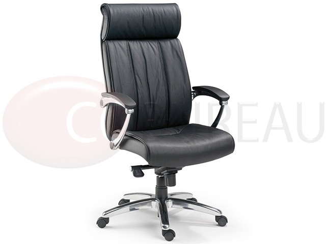 fauteuil direction boss cuir v ritable dossier haut. Black Bedroom Furniture Sets. Home Design Ideas