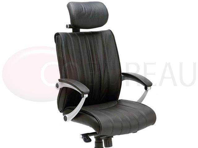 fauteuil direction exclusive cuir dossier haut. Black Bedroom Furniture Sets. Home Design Ideas