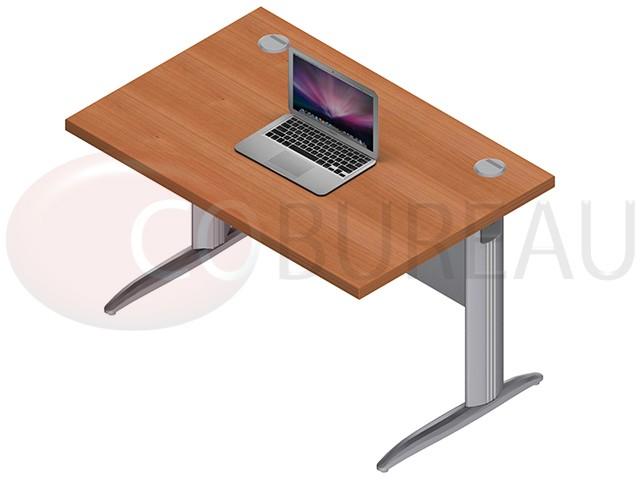 bureau avec plateau droit pro m tal 140 cm pieds en l. Black Bedroom Furniture Sets. Home Design Ideas