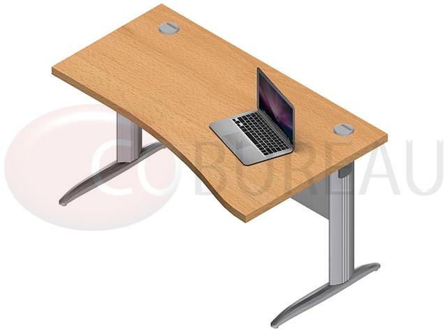 bureau vague pro m tal 140 cm pieds en l. Black Bedroom Furniture Sets. Home Design Ideas
