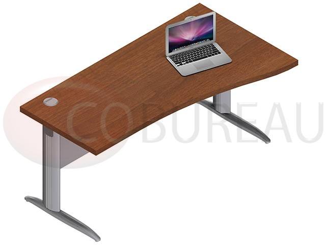 bureau vague pro m tal 160 cm pieds en l. Black Bedroom Furniture Sets. Home Design Ideas
