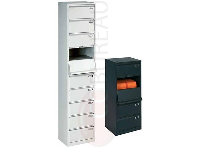 meuble clapets metal 10 cases corps gris clapets gris. Black Bedroom Furniture Sets. Home Design Ideas
