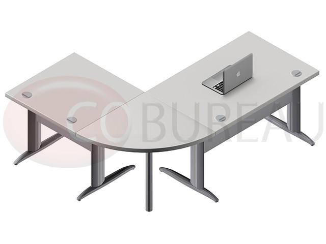Ensemble bureau cadre cm pro métal avec angle de liaison