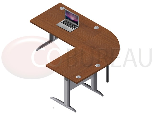 ensemble bureau cadre 120 cm pro m tal avec angle de liaison 90 retour droit 80 cm. Black Bedroom Furniture Sets. Home Design Ideas