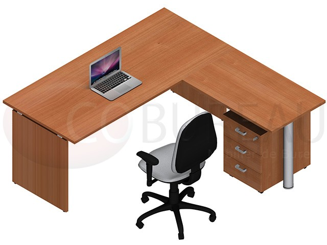 bureau kamos plateau droit avec retour. Black Bedroom Furniture Sets. Home Design Ideas