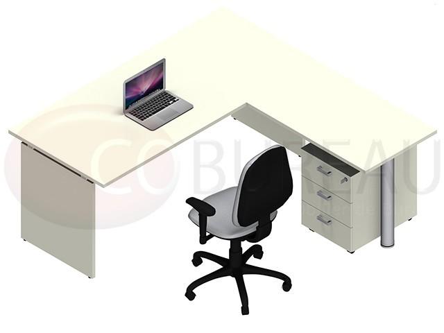 bureau kamos plateau droit avec retour. Black Bedroom Furniture Sets. Home Design Ideas