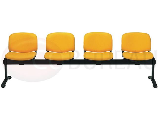 Banquette sur poutre 4 places smart tissu for Bureau 4 places