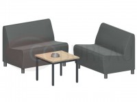 Table basse Métal 60x60 plateau carrée