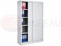 Armoire métallique à portes coulissantes - L. 120 x H. 200 cm