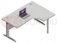 Bureau Compact 160 Cm Pro métal pieds en L