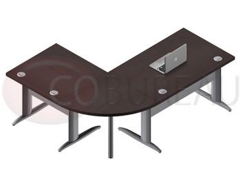 Ensemble bureau cadre 120 cm Pro métal